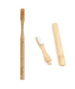 Bambus tandbørste og tilbehøre