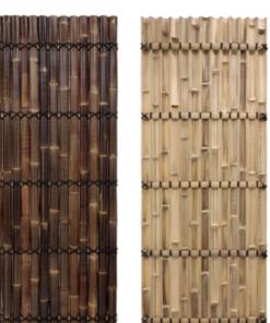 Halv Rund Bambus Hegn Panel